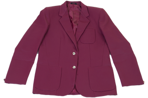 Ladies Plain Blazer - Maroon