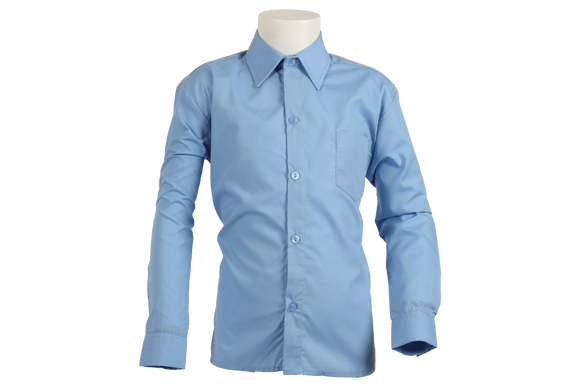 Longsleeve Raised Collar Shirt - Blue