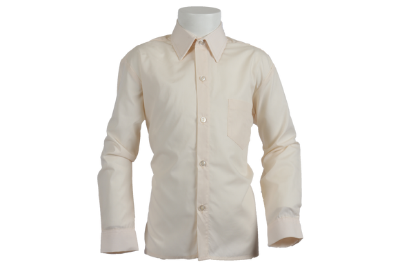 Longsleeve Raised Collar Shirt - Cream