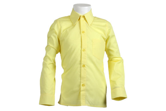 Longsleeve Raised Collar Shirt - Lemon