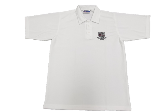 White Emb Golf Shirt - Westville Boys' High School