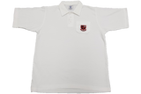 Golf Shirt White Emb - Clifton College