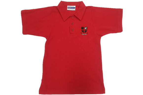 Red Emb Golf Shirt - Clifton Gr R