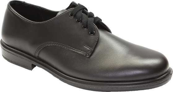 Toughees Hank Lace Up School Shoes - Black