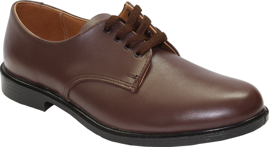 Toughees Lace Up School Shoes - Brown