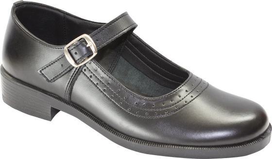 Toughees Pearl Barover School Shoes - Black