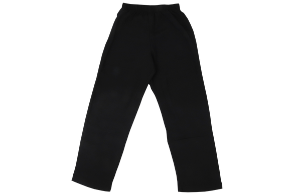 Elasticated Plain Pants - Black