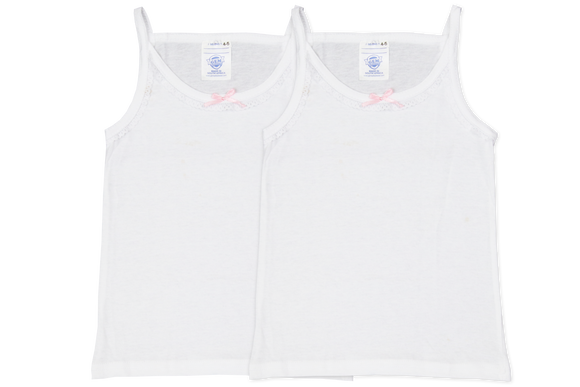 Vest Girls ( 2pk ) - White