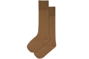 Boys 3/4 Plain Long Socks - Khaki