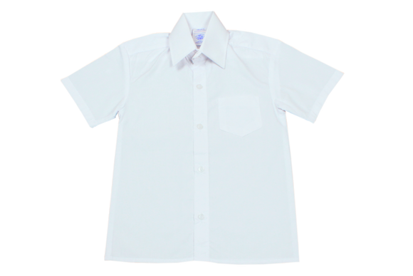 Shortsleeve Raised Collar Shirt - White