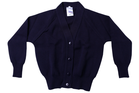 Plain Cardigan - Navy