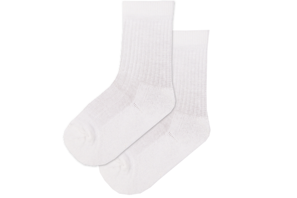 Boys Anklet Tennis Socks - White