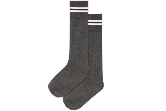 Boys 3/4 Striped Long Socks - Ashley