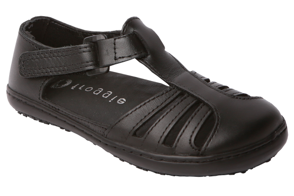 Froggies Girls School Sandals - Black