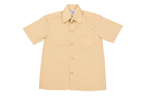 Shortsleeve Raised Collar Shirt - Biscuit