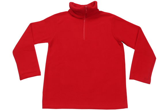 Plain Red Fleece Jacket