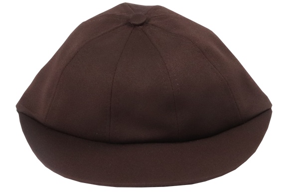 School Cap Plain - Brown