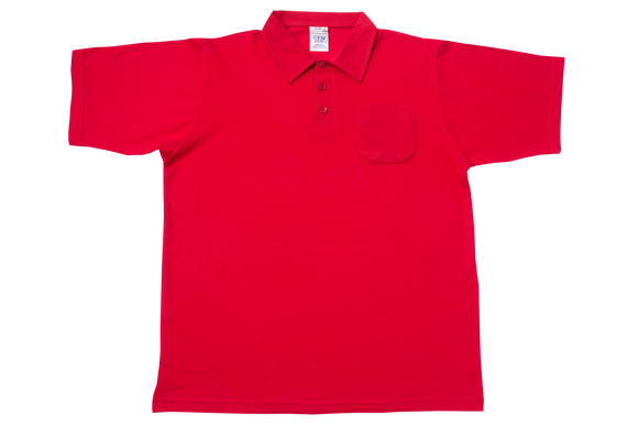 Golf Shirt Plain - Red