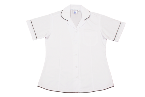 Shortsleeve Roundneck Blouse Plain - Wendon Academy