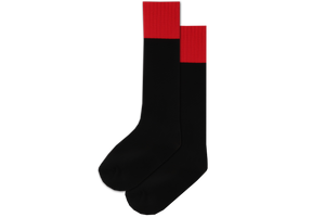 Rugby Socks Nylon - Holy Family College BOYS Black/Red