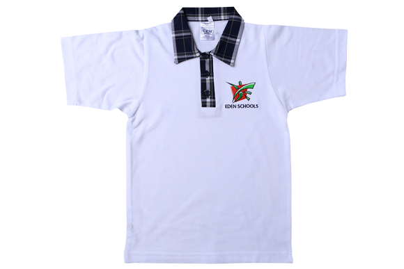 Golf Shirt White EMB - Eden Prep