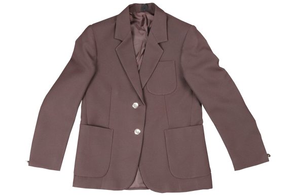 Ladies Plain Blazer - Brown