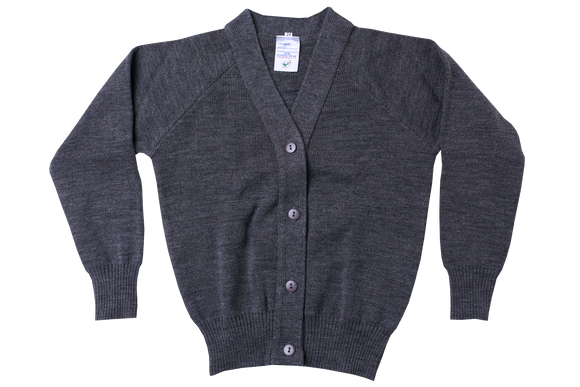 Plain Cardigan - Grey