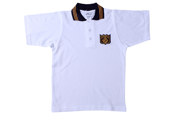 Golf Shirt White EMB - DPHS
