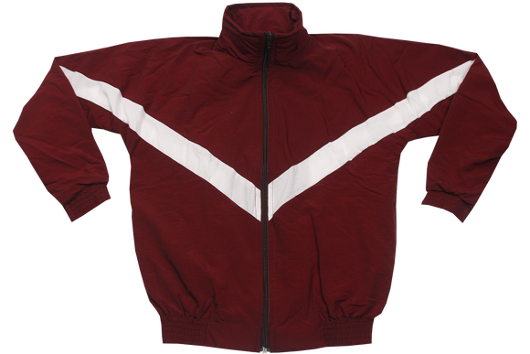 Tracksuit Set Plain  - Maroon/White