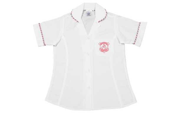 Shortsleeve Roundneck Blouse Emb - Queensburgh Christian Academy