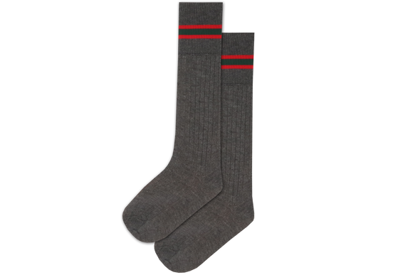 Boys 3/4 Striped Long Socks - Glenashley Prep