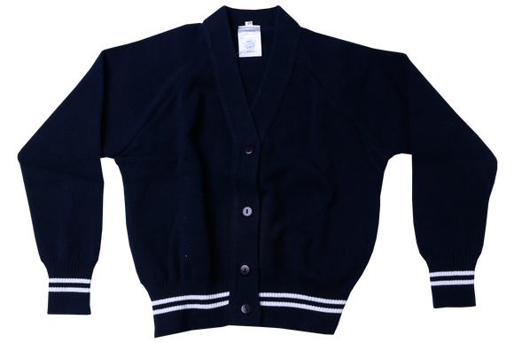 Stripe Plain Cardigan - Peaceville