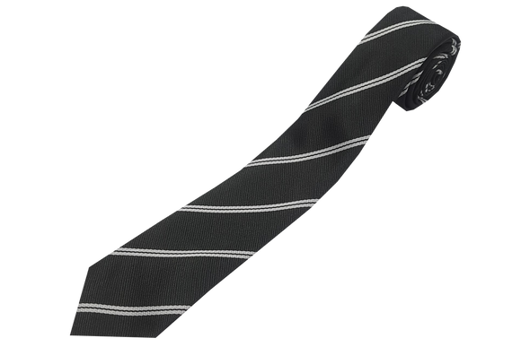 Striped Tie - Black/White