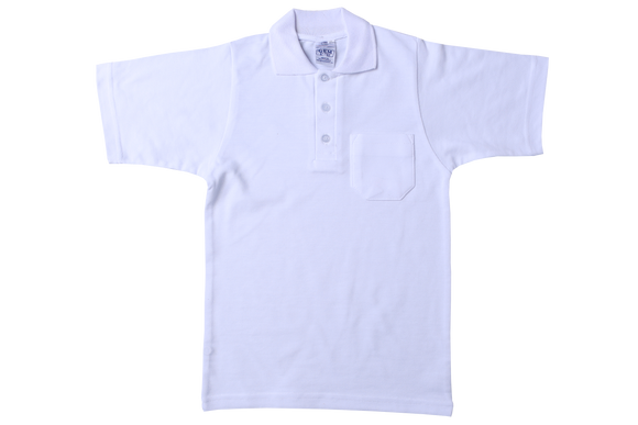 Golf Shirt Plain - White Ribb