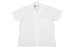 Shortsleeve Gladneck Blouse - White (top button)