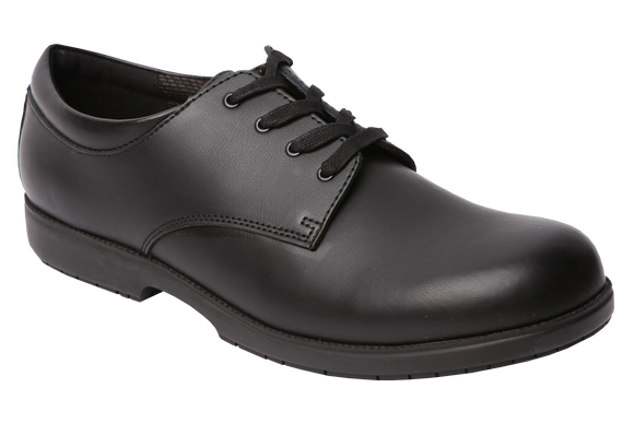 Greencross Lace Up School Shoes - Black