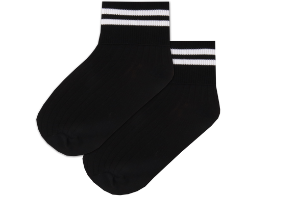 Girls Striped Anklets - Isiqalo Blk/Wht