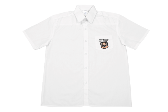 Shortsleeve Plain Emb Shirt - Brettonwood