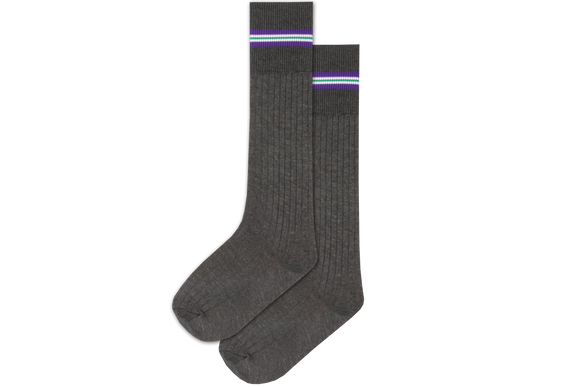 Boys 3/4 Striped Long Socks - Glenmore
