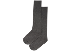 Boys 3/4 Long Socks - Grey