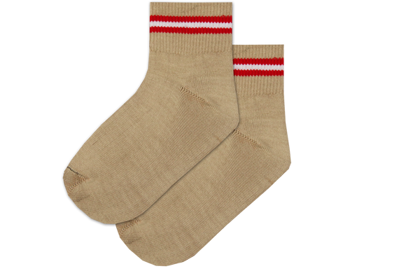 Boys / Girls Anklet Spun Socks - Redwood