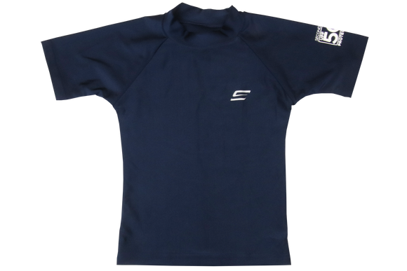 Second Skins-Rash Vest-Short Sleeve- Navy