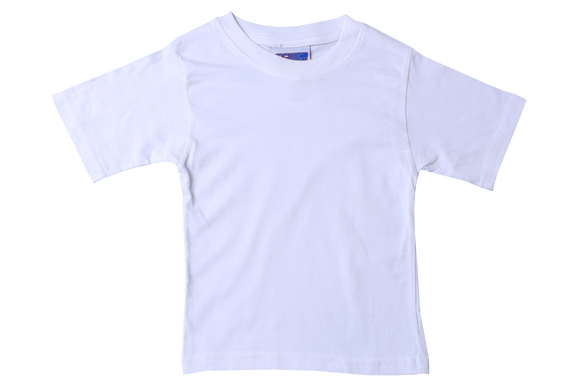 T-Shirt Plain - White Short Sleeve