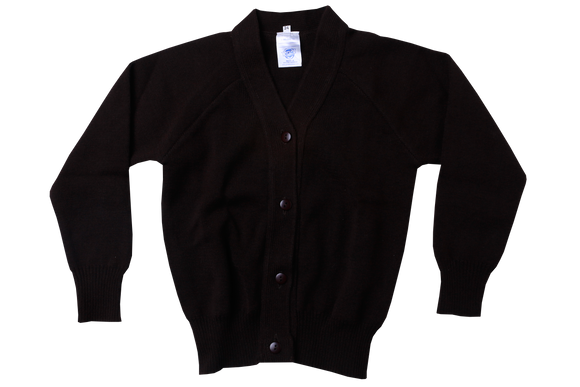 Plain Cardigan - Brown