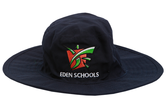 Floppy Hat Navy Emb - Eden College