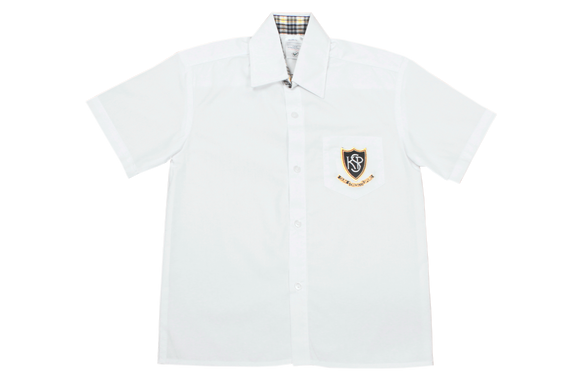 Shortsleeve Plain Shirt Emb - Kloof Senior