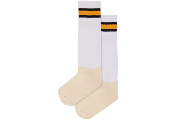 Rugby Socks Nylon - Sarnia White/Navy/Gold/Navy
