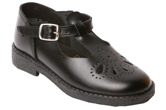 Toughees Betty Tear Drop School Shoes - Black
