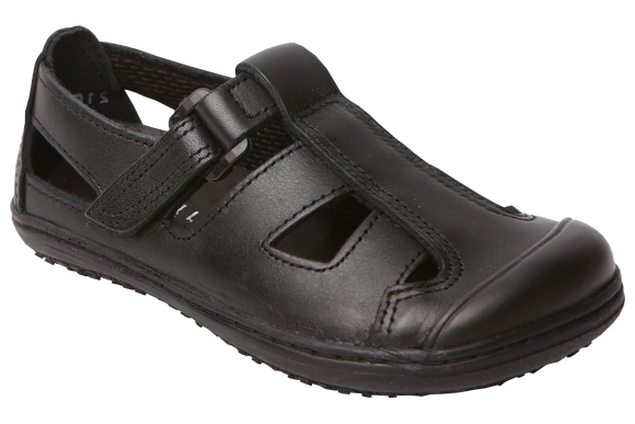 Froggies Boys School Sandals - Black
