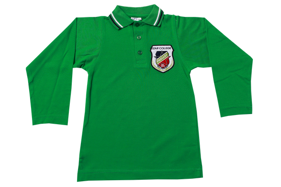 Golf Shirt Avocado Long Sleeve EMB - Star Primary